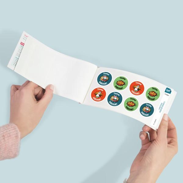tiquettes rondes autocollantes plastifi es personnaliser pour marquer tous les objets. Black Bedroom Furniture Sets. Home Design Ideas