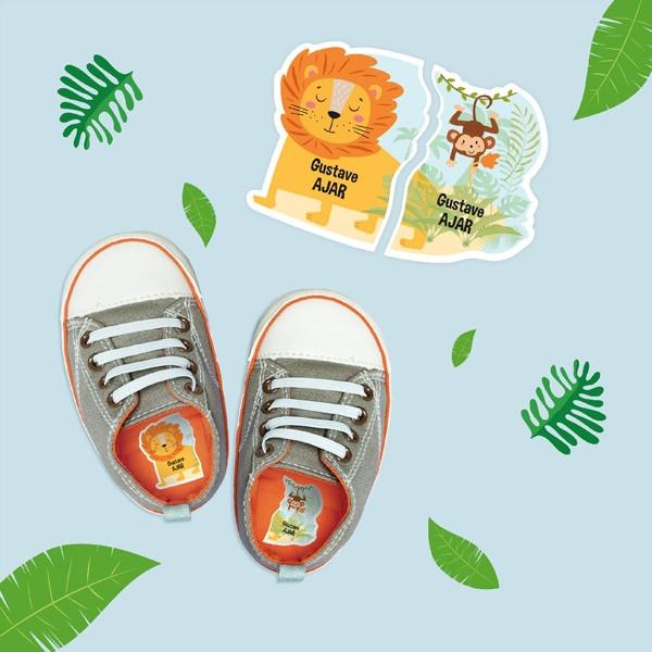 Etiquettes chaussures intuitives Gauche/Droite