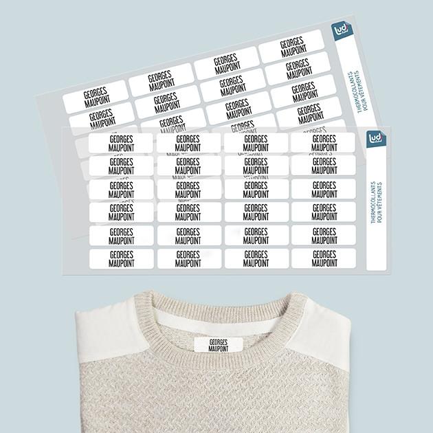 Étiquettes thermocollantes EHPAD / Maison de retraite