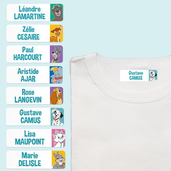 Étiquettes Thermocollantes pour Vêtements - Disney Animaux - Multi-personnalisations