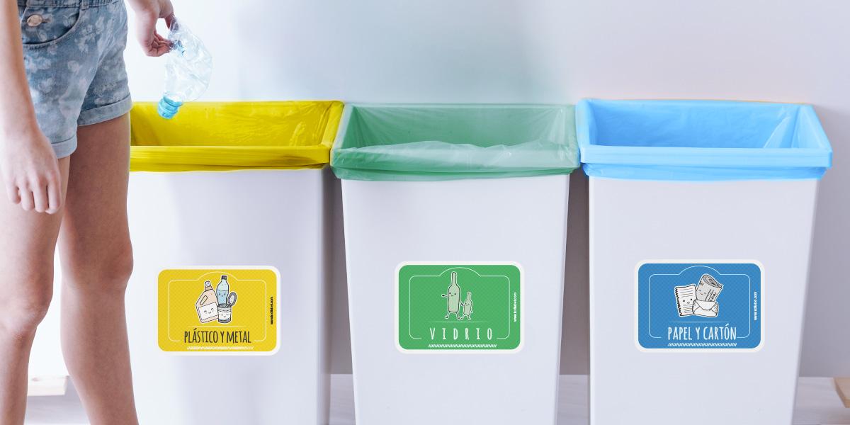 Pegatinas para el reciclaje