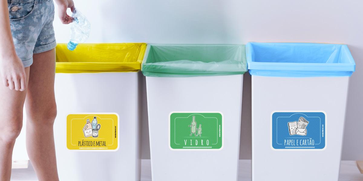 Autocolantes reciclagem