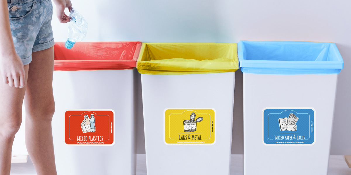 stickers for recycling
