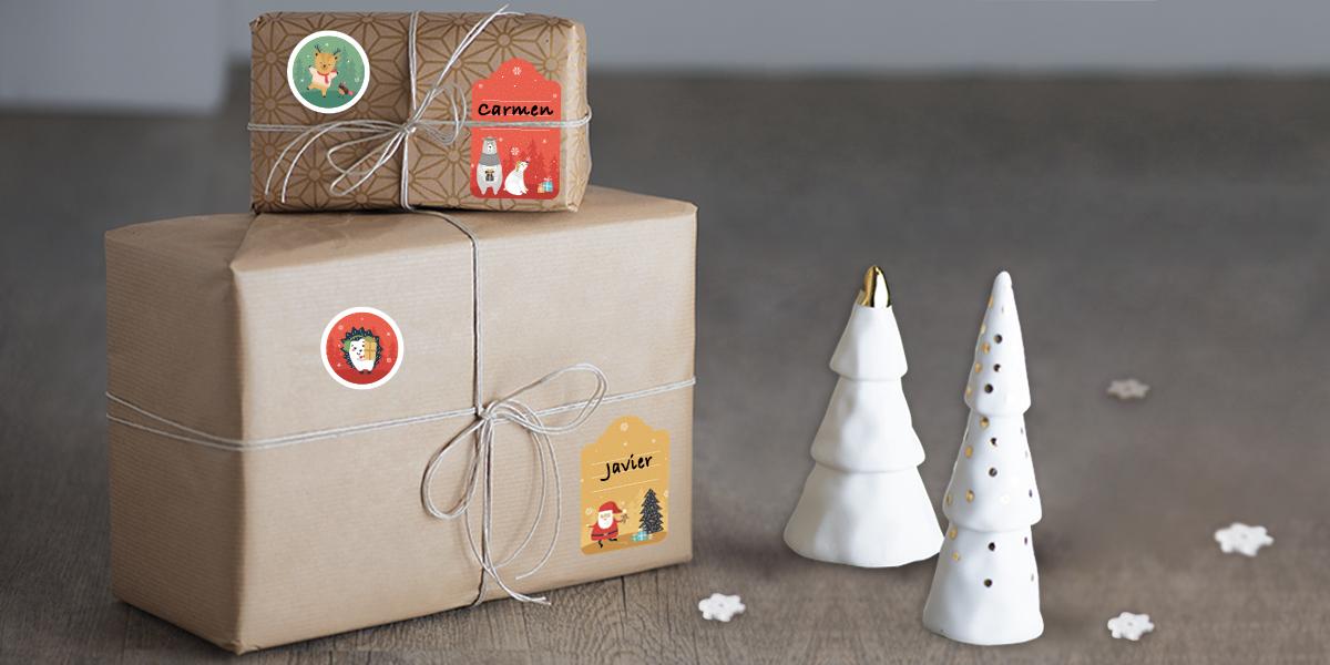 Etiquetas regalos de Navidad