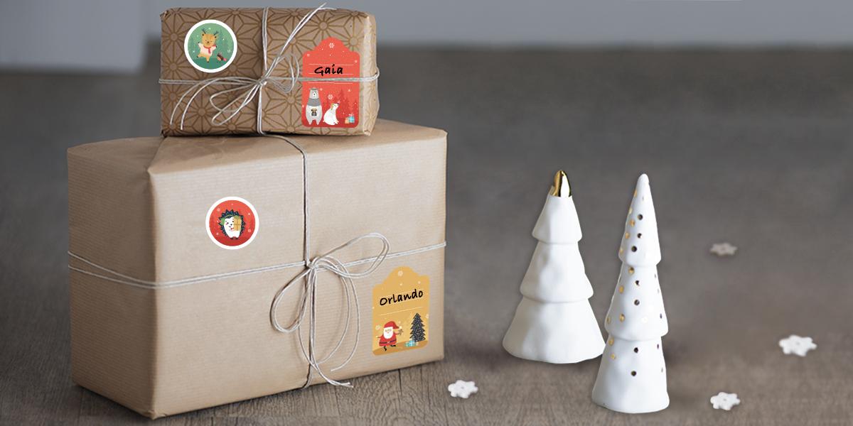 Etichette regali di Natale
