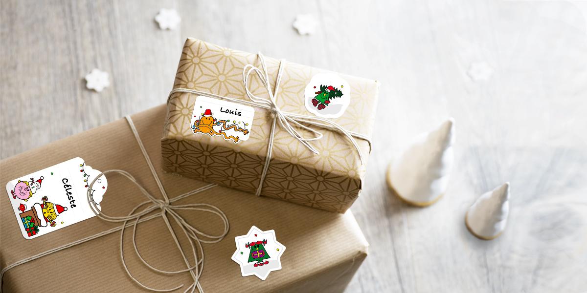 Etiquettes autocollantes de Noël pour cadeaux