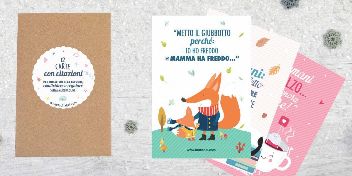 Le cartoline con Citazioni illustrate