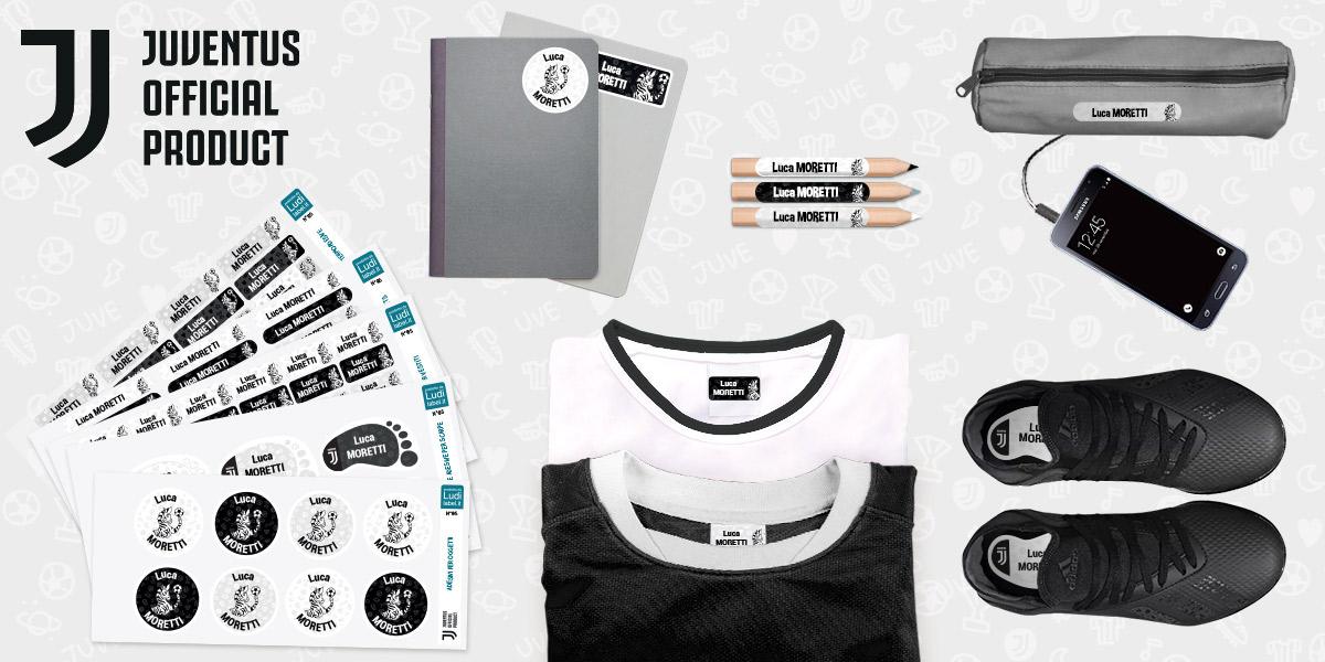 Le etichette vestiti e oggetti Official Product Juventus