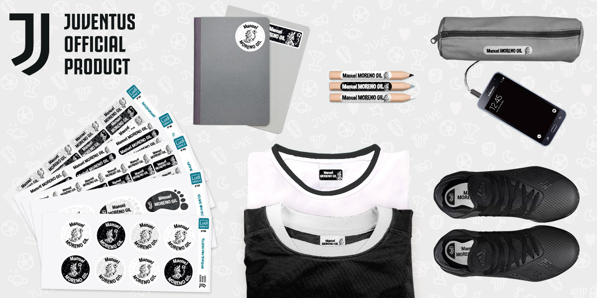 Las etiquetas personalizadas Juventus FC