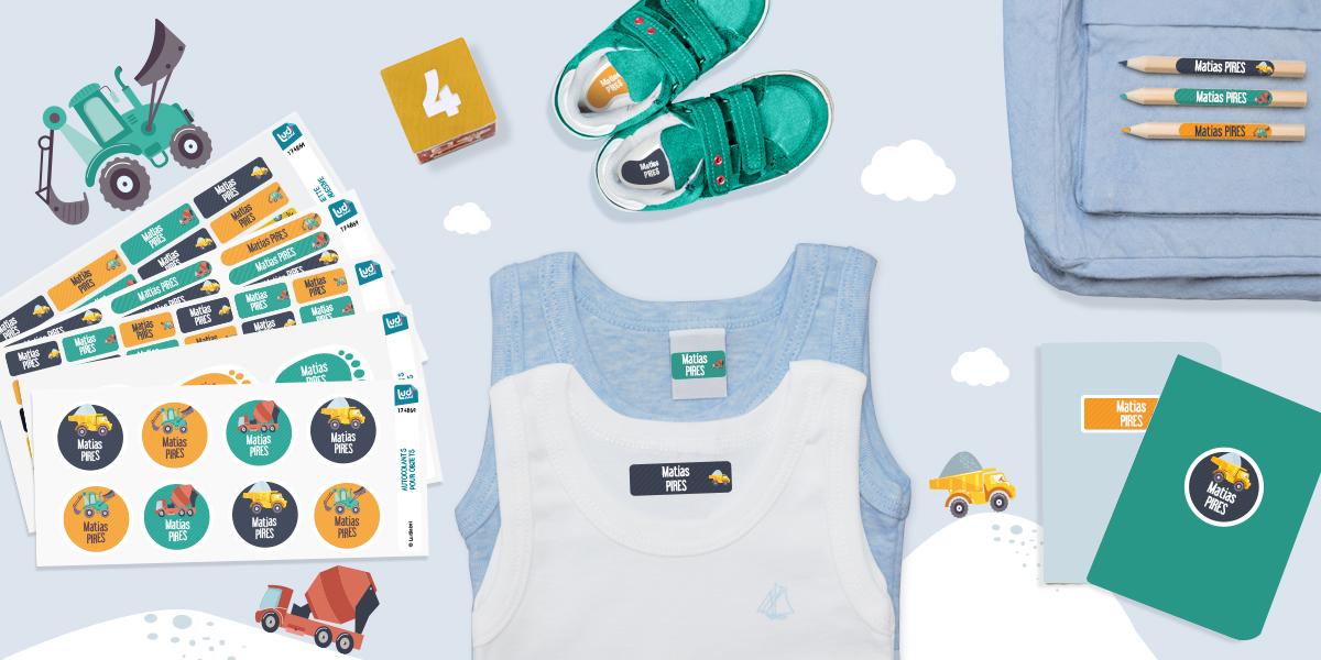 Etiquetas especialmente concebido para o Jardim de Infância, você vai poder personalizar toda a roupa