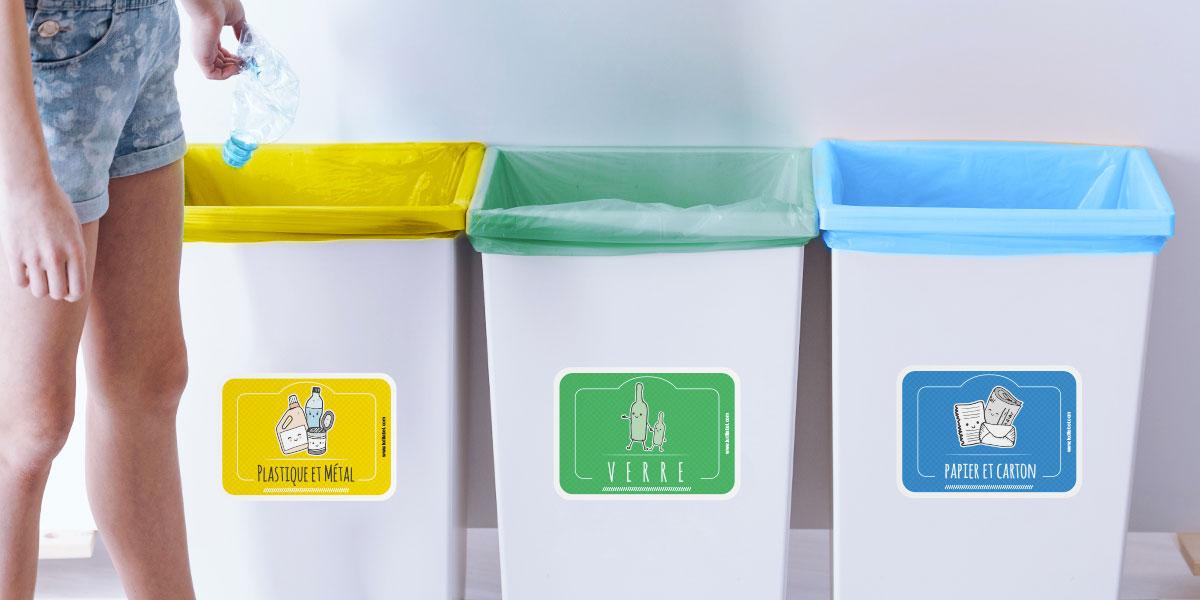Etiquettes poubelles tri sélectif