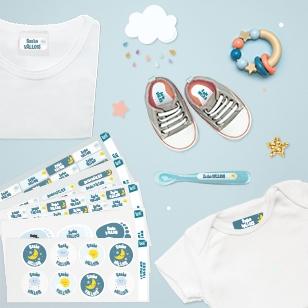 Des étiquettes nominatives pour marques les affaires de bébé à la crèche ou en garderie
