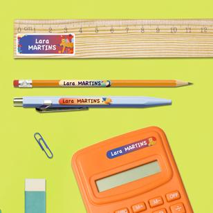 Pack de etiquetas personalizadas para material escolar