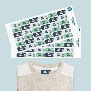 self-adhesive labels for clothes