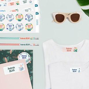 pack de etiquetas personalizadas para roupa e objetos ludistart