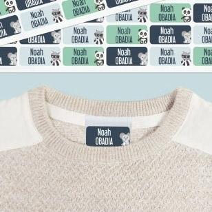 Des étiquettes nominatives pour marquer les vêtements sans fer à repasser