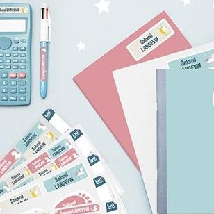 pacchetto di etichette e adesivi per la scuola