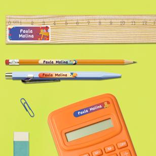 etiquetas para el material escolar