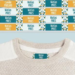 Etiquetas termoaderentes para roupa