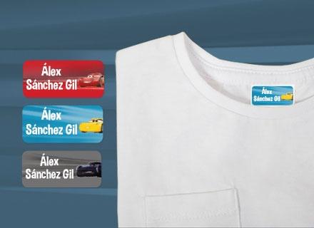 Etiquetas adhesivas Cars