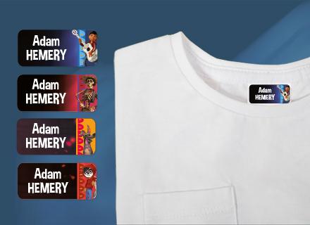 Des étiquettes Coco Disney sur des fournitures