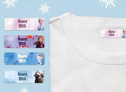 Etichette termoadesive Frozen vestiti