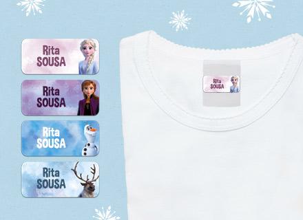 Etiquetas autocolantes para roupa Raínha da Neve