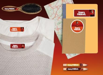 Des étiquettes Indestructibles   avec le nom de votre enfant sur chaque affaire de son trousseau