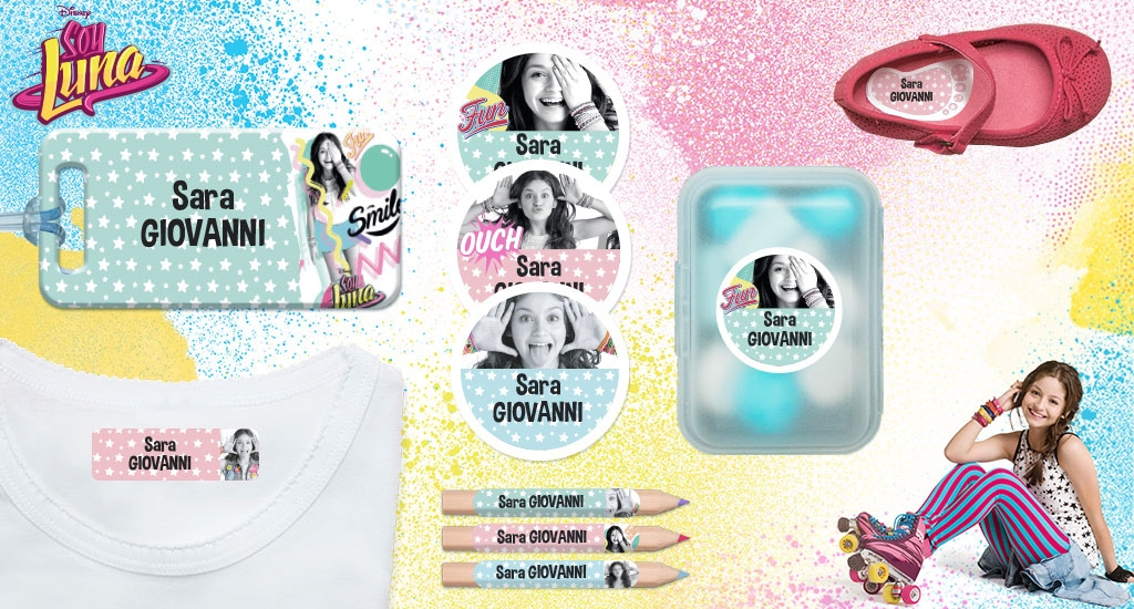 Le etichette personalizzate di Soy Luna