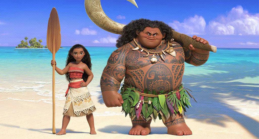 Vaina et le demi dieu Maui sur une plage de Polynésie