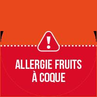 Etiquette Allergie fruits à coques