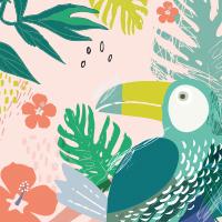 motif tropical ludilabel