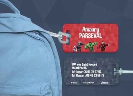 Une étiquette Avengers pour identifier sacs et valises