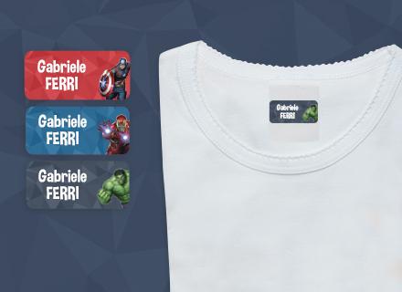 Etichette adesive Avengers