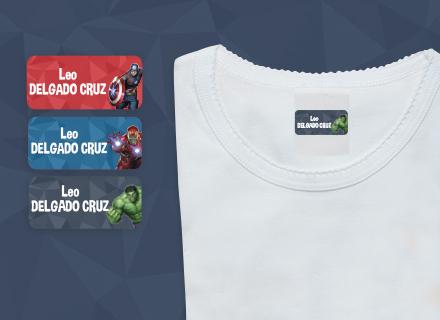 Etiquetas adhesivas Avengers