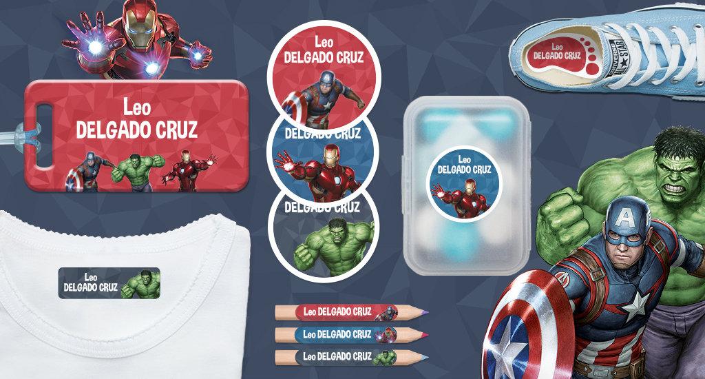 Idescubre las etiquetas Avengers!