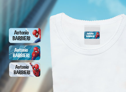 Etichette adesive Spiderman