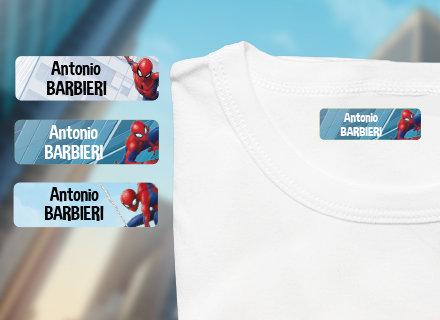 Etichette termoadesive Spiderman