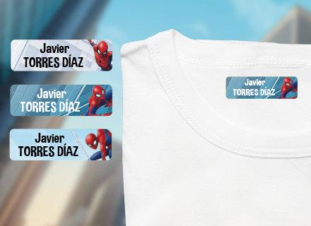 Etiquetas termoadhesivas ropa Spiderman