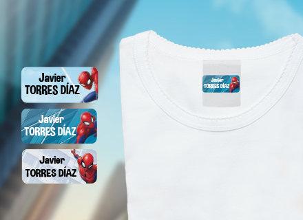 Etiquetas adhesivas Spiderman