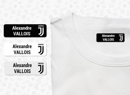 Une étiquette thermocollante de la Juventus Football Club