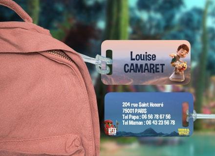 Une étiquette de bagage  Terra Willy  pour identifier sacs et valises