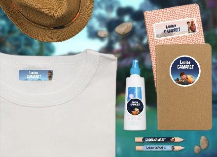 Des étiquettes  Terra Willy pour marquer les affaires de colonies de vacances
