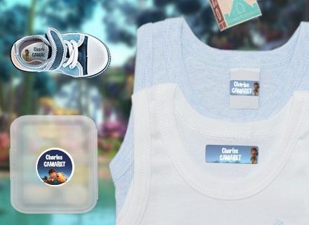 Des étiquettes  Terra Willy pour marquer les affaires à la crèche