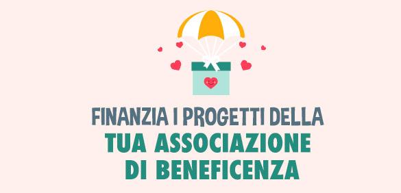 Finanzia i progetti della tua associazione di beneficenza