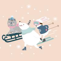 Animaux au Ski