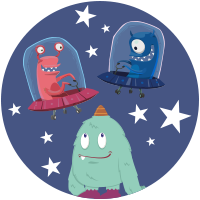 Des martiens dans l'espace
