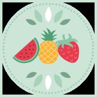Fruits d'été (Pastèque, Fraise, Ananas)