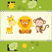 Lion, Singe et Girafe