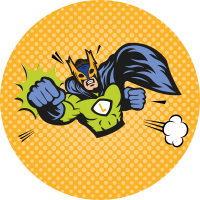 Etiquettes super héros de comics